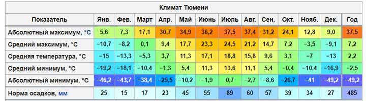 Какая будет зима в Тюмени в 2019-2020 году